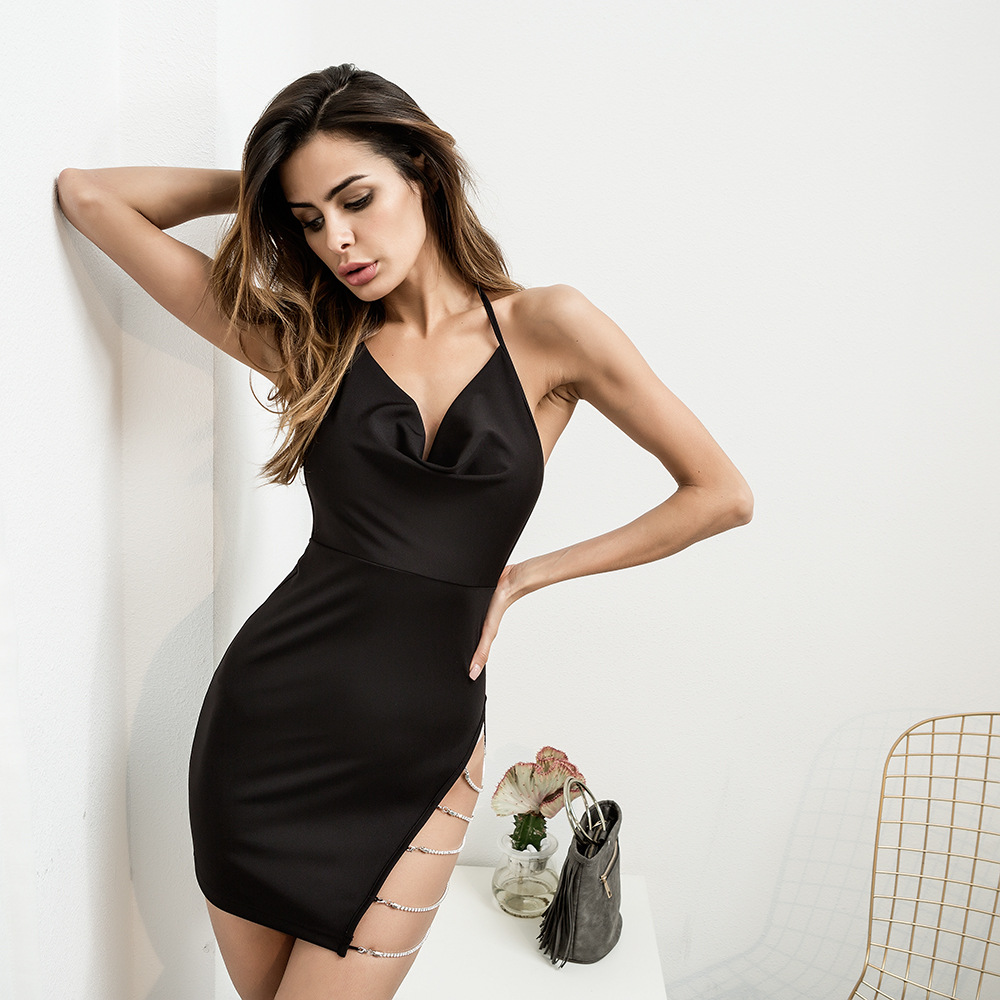 e9fd8e5bc 2019 Spring Clothes sexy Party Dress Hollow Out Package Buttocks Camisole  Casual dress