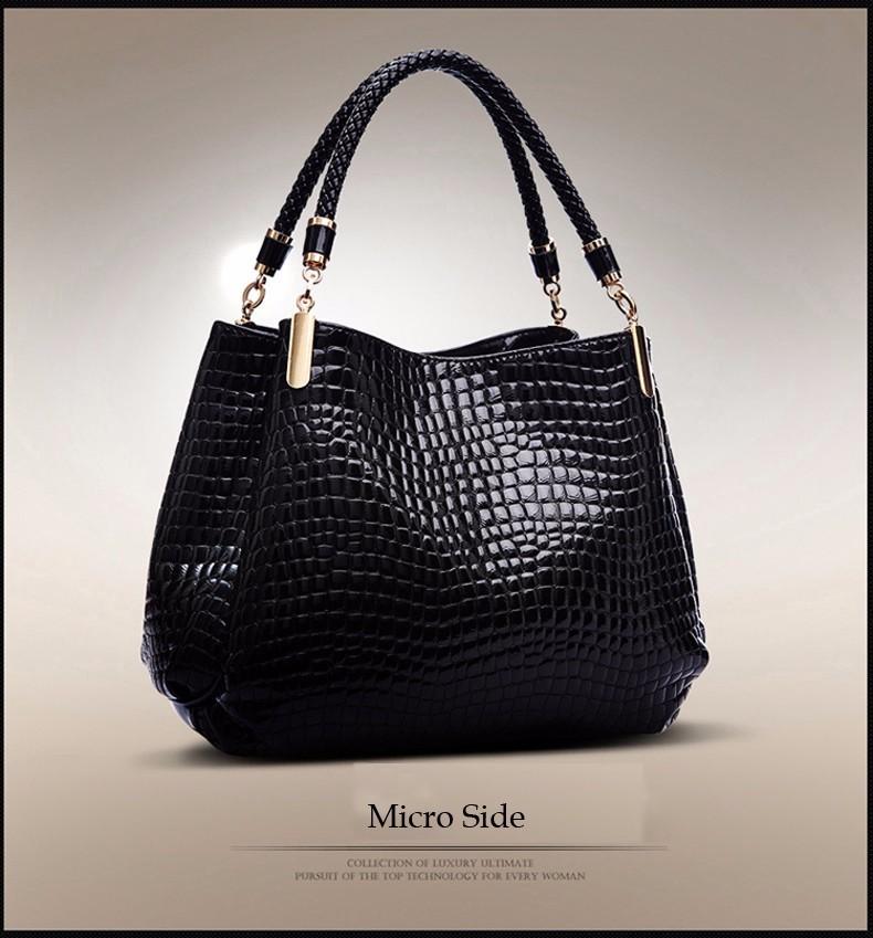 c35747f1111e 2018 Alligator Leather Women Handbag Bolsas De Couro Fashion Famous Brands  Shoulder Bag Black Bag Ladies Bolsas Femininas Sac