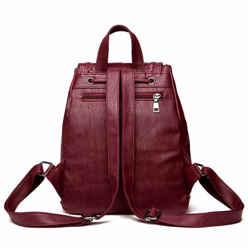 5b7bf5296659 Brand Women Backpack With Cute Bear Women Bag Female Pu Leather Backpacks  For Teenage Girls School Bag Fashion Sac A Mai. Soft High Quality ...