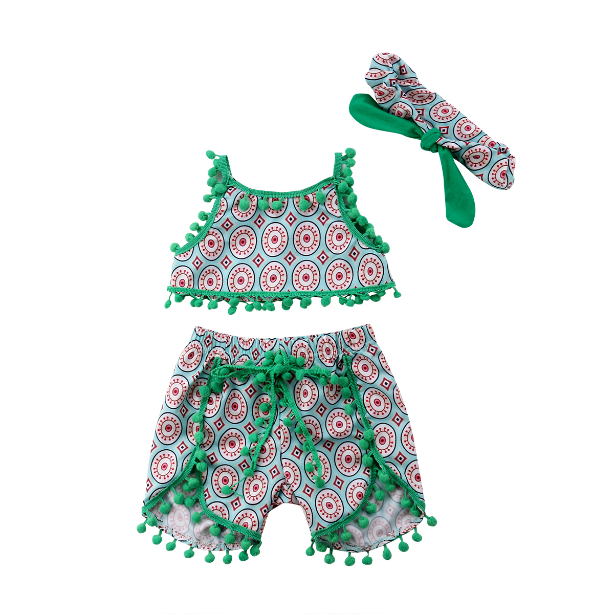 12b563188cfb Buy Tassel Ball Summer Clothes For Girls Cute Newborn Baby Girl ...