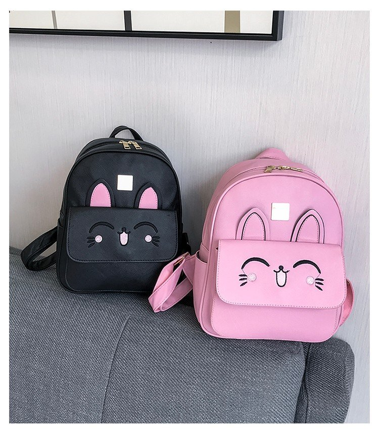 8da4f505525 Buy 4Pcs/set Women Backpacks Schoolbag Korean Rucksack Rabbit School ...