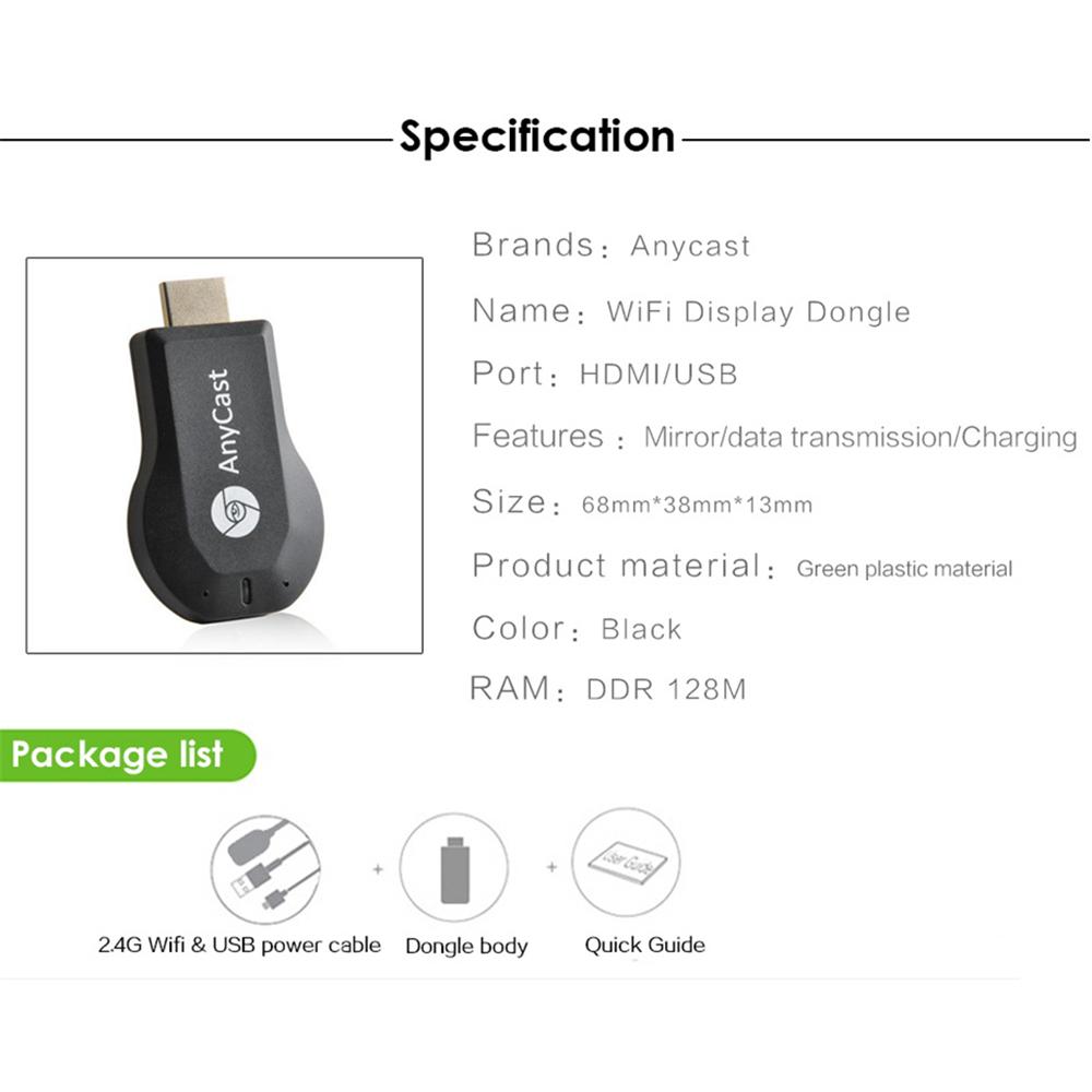 Buy Maikou Anycast M2 Plus Airplay 1080P Wireless WiFi