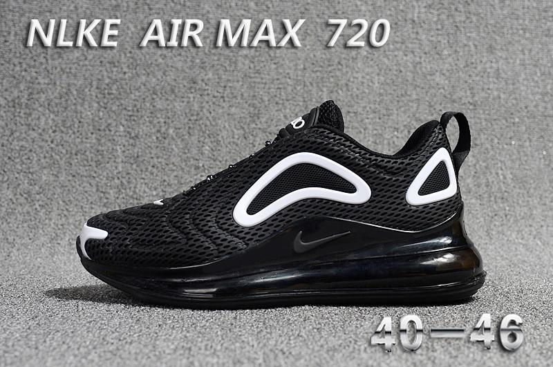 Buy TOP NEW 2018 NIKE AIR MAX 720 KPU Black MENS RUNNING