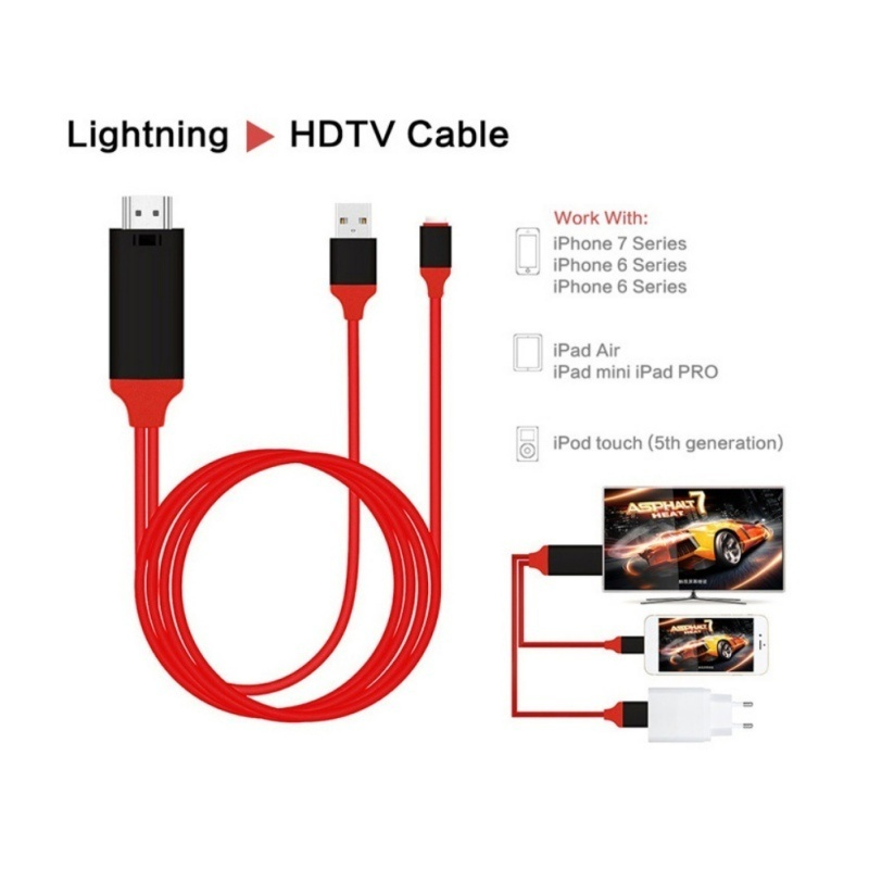 Buy Lightning to HDMI Cable with USB Charging,iPhone to HDMI
