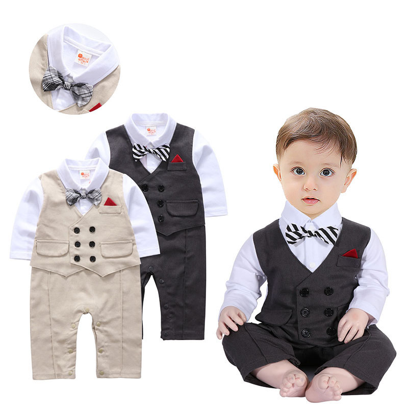 7674059515e Buy Baby Boy Suit Toddler Short Sleeve Rompers Infant Outfit Onesie ...
