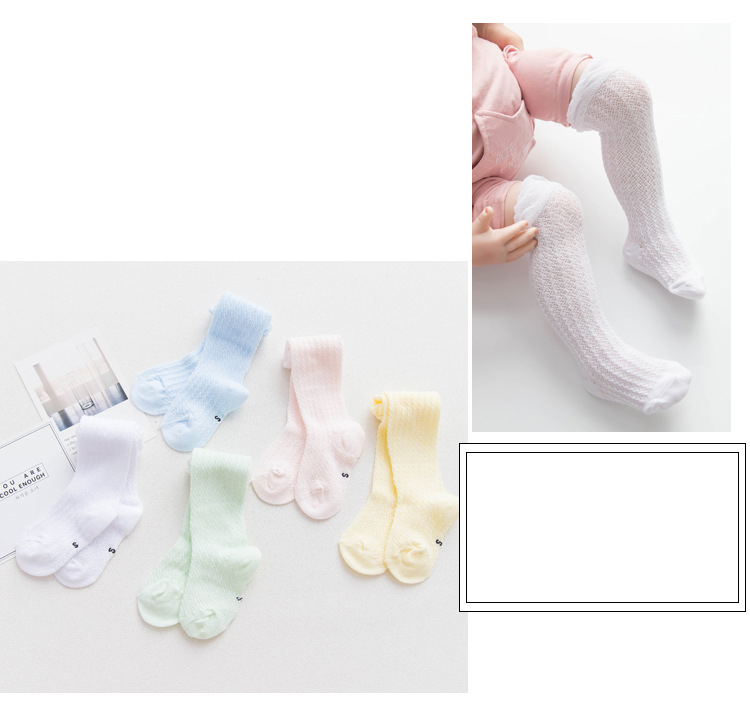 c27974f1d30 Summer Baby Knee Socks Mesh Thin Long Tube Mosquito Socks Baby Socks For  Girls Infantil Newborn Girl Socks Children Clothes