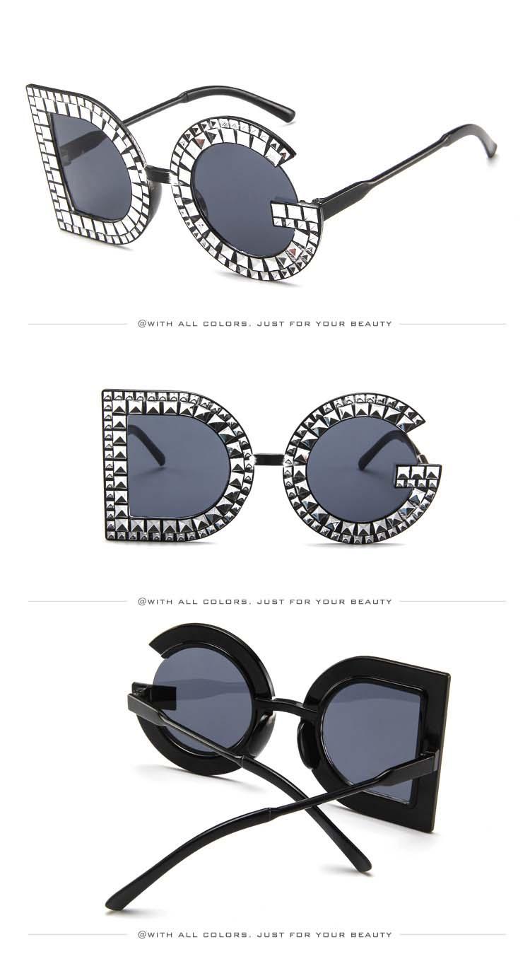 5f619d73279 Buy Diamond D And G Round Sunglasses Women 2018 New Luxury Brand ...