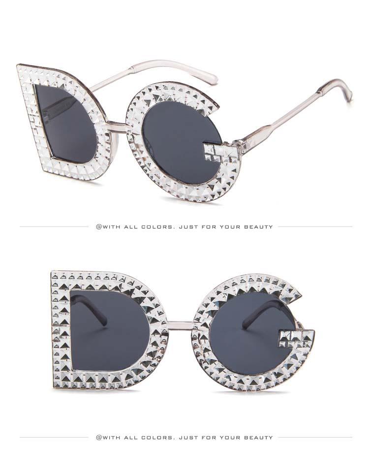 37c0b0e6280 Buy Diamond D And G Round Sunglasses Women 2018 New Luxury Brand ...