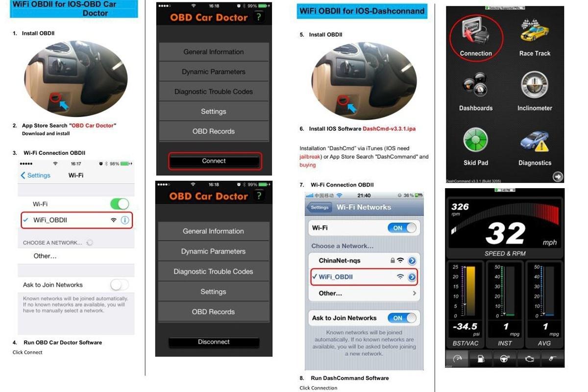 Buy OBD mini ELM327 Bluetooth Wifi OBD2 V2 1 V1 5 Auto