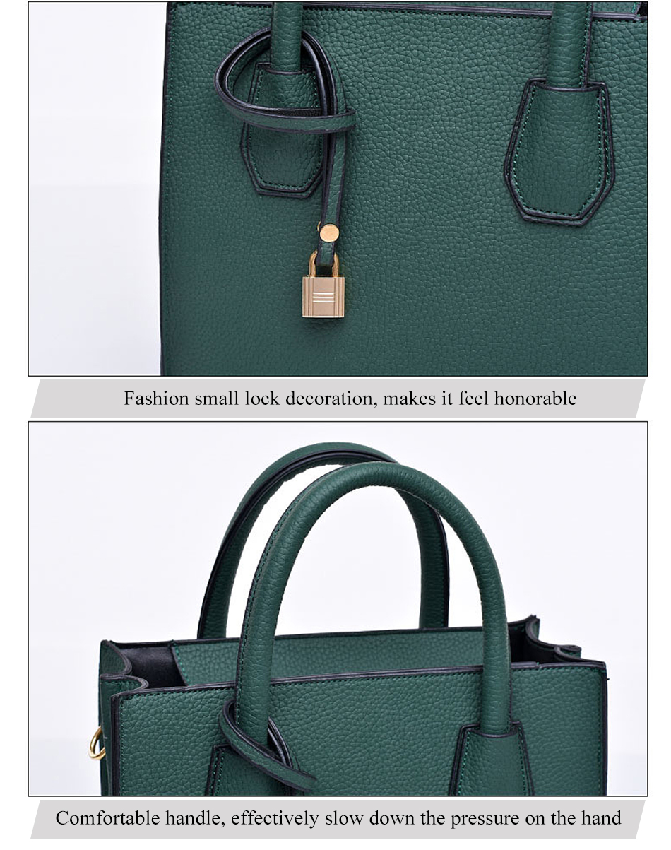 8c4227eb08a Buy Fashion Litchi Pattern Leather Handbags Women Tassel Casual Tote ...