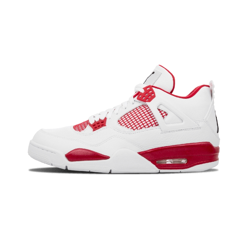 """best website c7f27 ea18a Imagining a colorway that wasn t released in 1989 but could have been, the """" Alternate"""" Air Jordan 4 creates a Bulls-friendly color scheme in white with  red ..."""