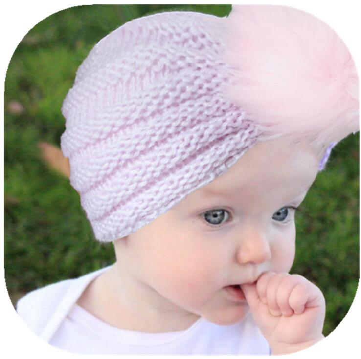 Hats & Caps Lovely Fashion Autumn Winter Baby Girls Goys Hats Candy Color Knitted Pompom Hair Ball Newborn Beanie Hat Indian Caps