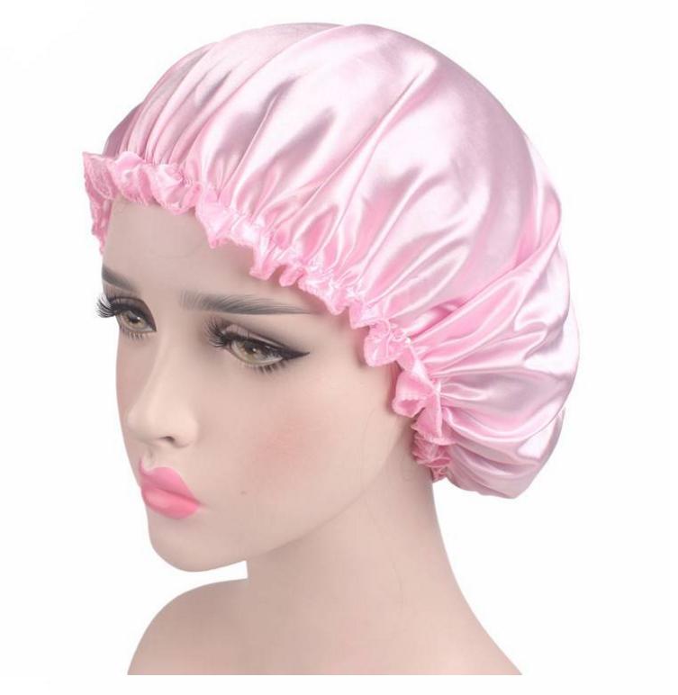 3b252ac5022 10 Colors Sleeping Hat Night Sleep Cap Hair Care Satin Bonnet Caps Nightcap  For Women Men Unisex Cap