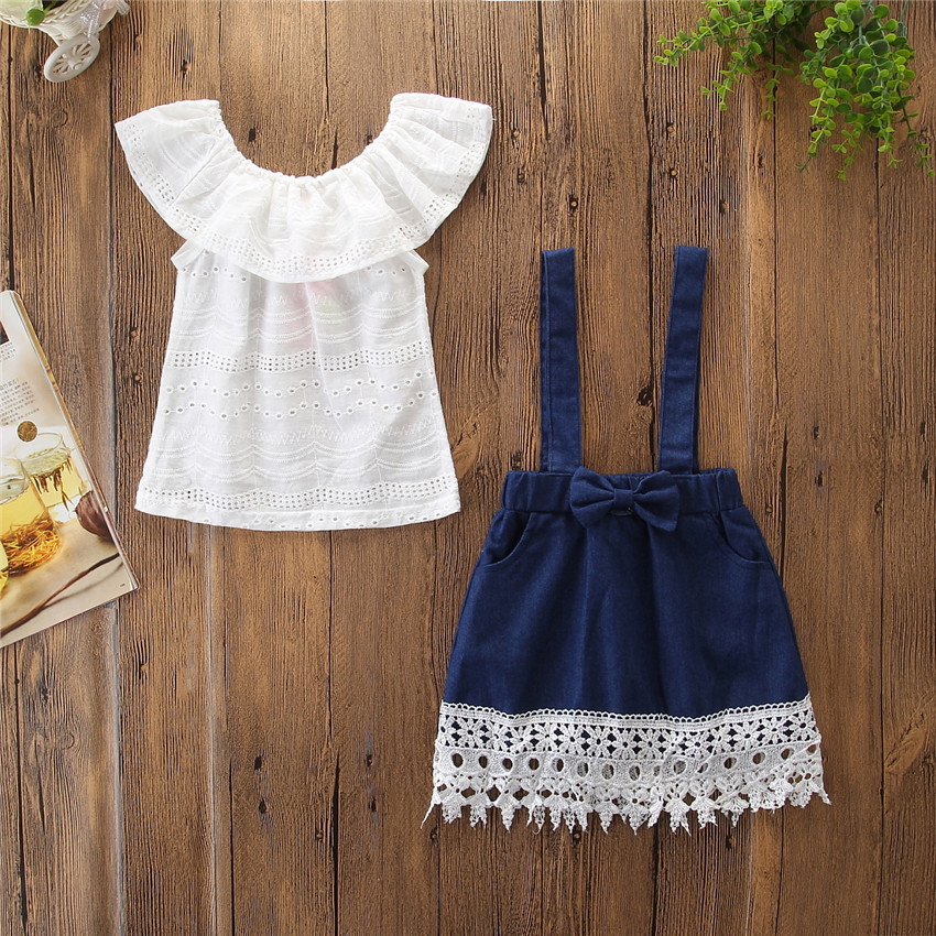 9962c3aaa Buy New Baby Girl s Short Sleeves T-shirts Mini Stripe Skirt 2PCS ...