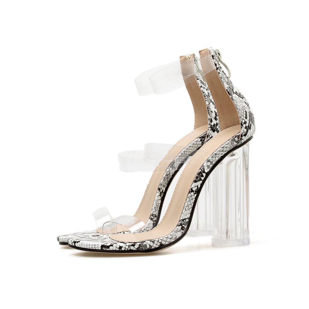 e901c92586c Buy Telemeng 2019 Sexy Kim Kardashian Perspex Heels Zip clear heels ...