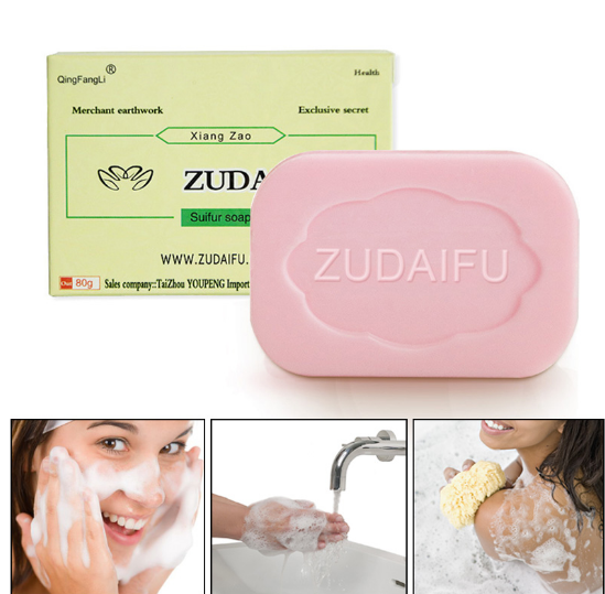 85g Sulphur Soap Skin Care Dermatitis Fungus Eczema Anti Bacteria Fungus Shower Bath Whitening Soaps Wh998 Beauty & Health