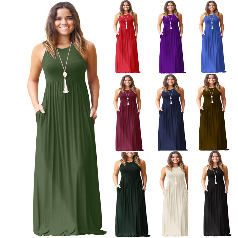d81633c92 ... party maxi dresses for women casual plated dress for women party dress  with pocket long dresses with pockets casual dress with pocket elegant solid  ...