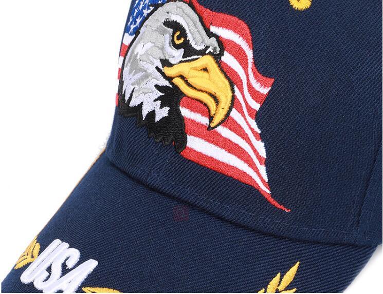 39274b40d Buy New Men Eagle Baseball Cap American Flag Embroidery Snapback Dad ...