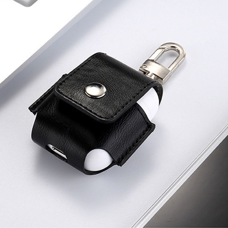 for Airpods Case Portable PU Leather Cover Case Protective Carry Bag Anti Lost Storage Pouch Bag for Apple Airpods (7)