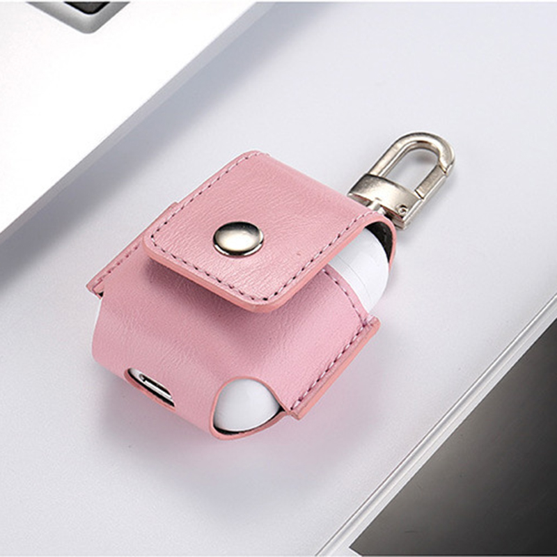 for Airpods Case Portable PU Leather Cover Case Protective Carry Bag Anti Lost Storage Pouch Bag for Apple Airpods (9)