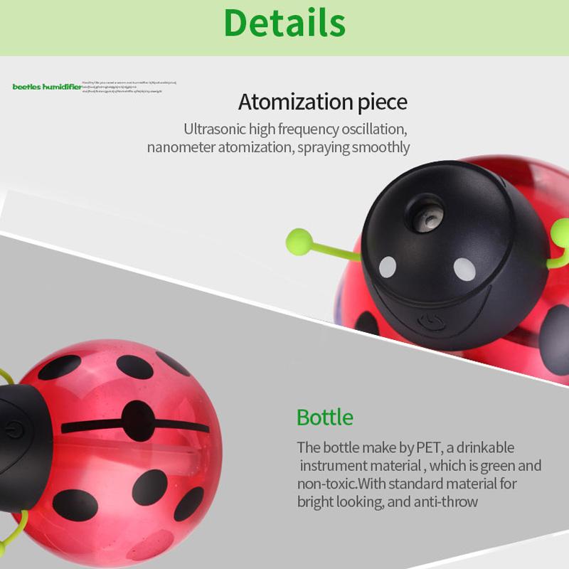6f8cbe4ea Buy car air freshener Ladybug Ultrasonic Humidifier 5V Led Light USB ...
