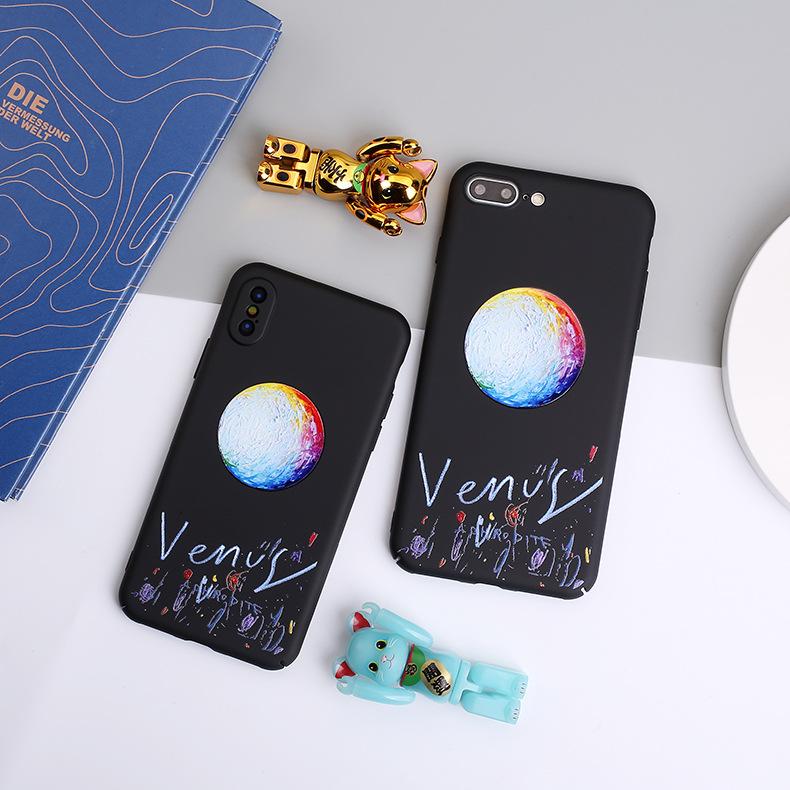 Buy Embossed Planet Phone case iphone 7p 8 XsMax Creative
