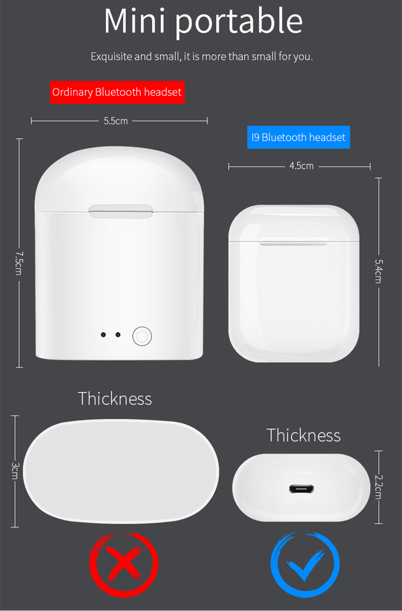 Buy IFANS i9s tws Twins Earbuds Mini Wireless Bluetooth