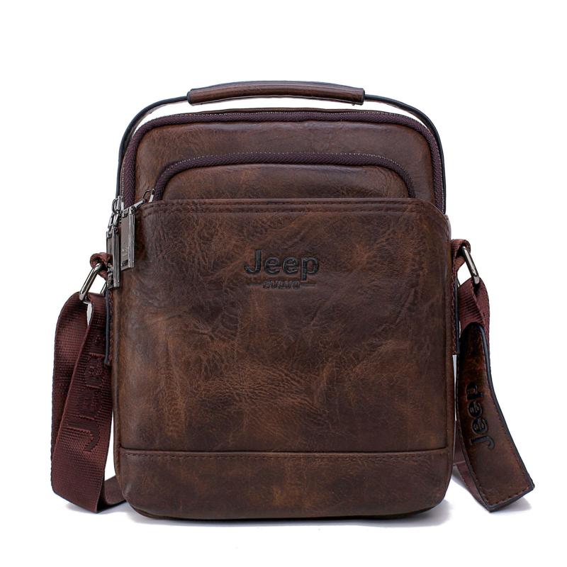 JEEP BULUO Split Leather Men Messenger Bag Hot Sale Male Large Man Fashion  Crossbody Shoulder Bags Men  s Travel New Handbags f74b9afb43069