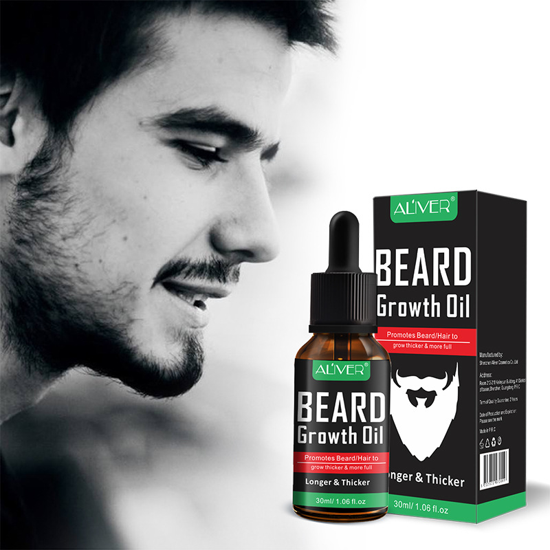Buy Aliver Men Facial Hair Grow Thick Beard Growth Serum Mustache