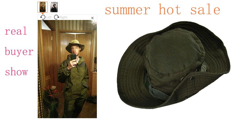 d920c448bdb Buy Sun Hat Panama Bucket Flap Hat Breathable Boonie Multicam ...