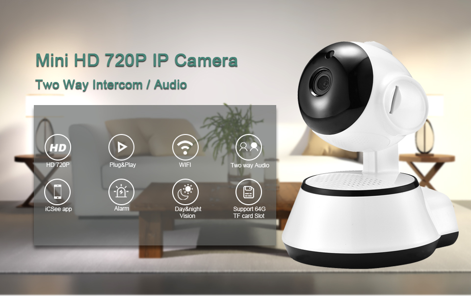 Buy BESDER Home Security IP Camera Wireless Smart WiFi Camera WI-FI