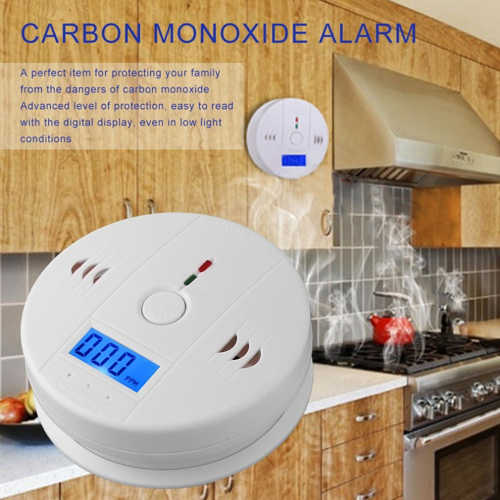 Fire Protection Profession Home Safety Co Carbon Monoxide Poisoning Smoke Gas Sensor Warning Alarm Detector Lcd Displayer Kitchen