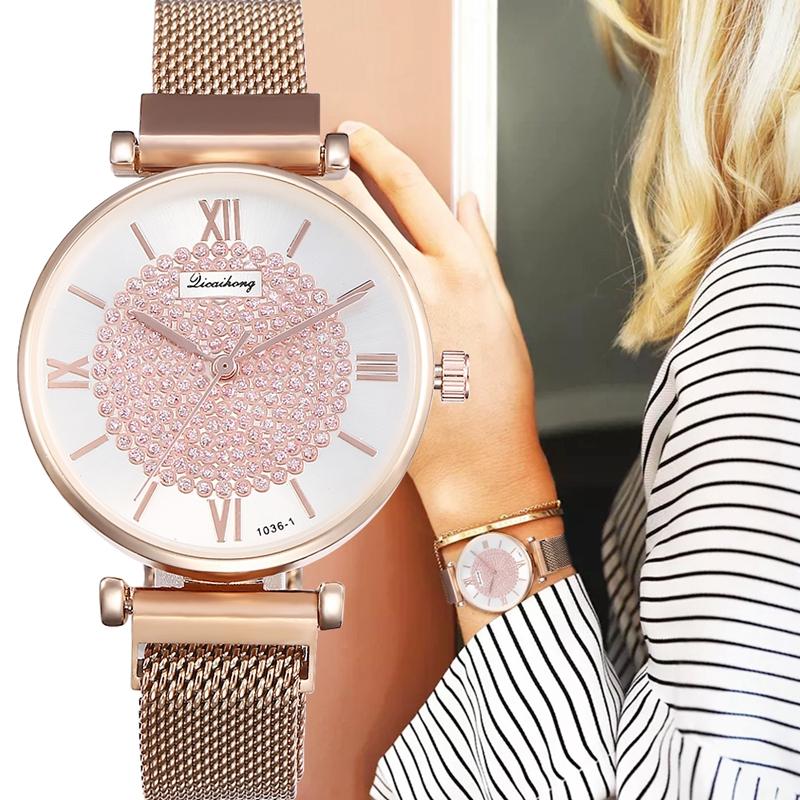 c7eac62de 100% brand new and high quality. Gender  Women Movement  Quartz watch. Dial  diameter 4cm. Dial thickness  0.8cm. Band length  22cm. Band width  2cm