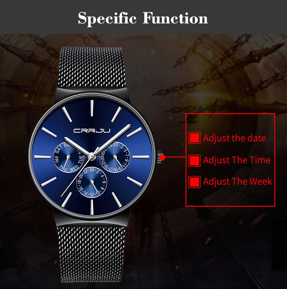 venta usa online como escoger buena calidad Buy reloj hombre 2019 CRRJU Top Brand Luxury Men Watches ...