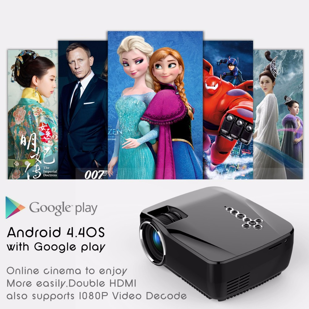 Buy Wifi Bluetooth Android 44 Projector With Google Play 1g Ram 8g Unic Uc46 Mini Portable Full Hd 1080p Support Red And Blue 3d Effect Connection Gp70up Simplebeamer Smart Led Home Cinema 3