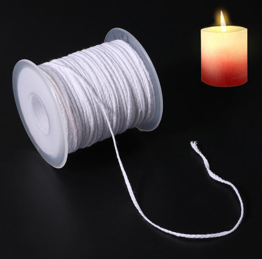 61m Spool of Cotton Square Braid Candle Wicks Wick Core Candle Making Supplies