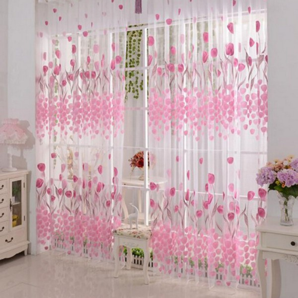 Buy Voile Curtains for Living Room the Bedroom Sheer Curtains Tulle ...