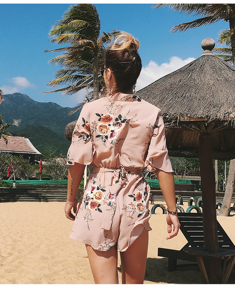 fcfdde0ea107 Buy Rompers womens jumpsuit 2018 AliExpress printing new V-necked ...