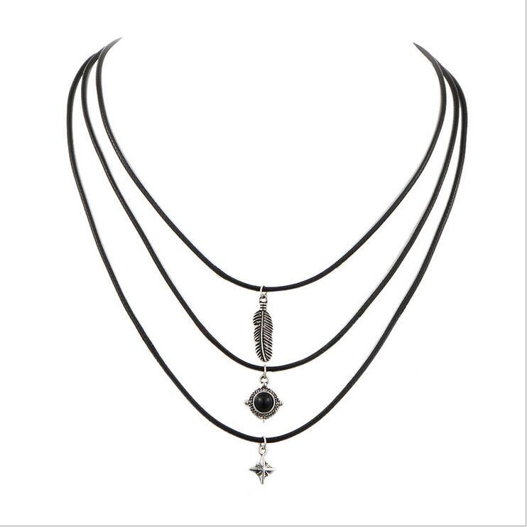 Women Chunky Collar Statement Choker Necklace Pendant Chain Vintage Jewelry Bib