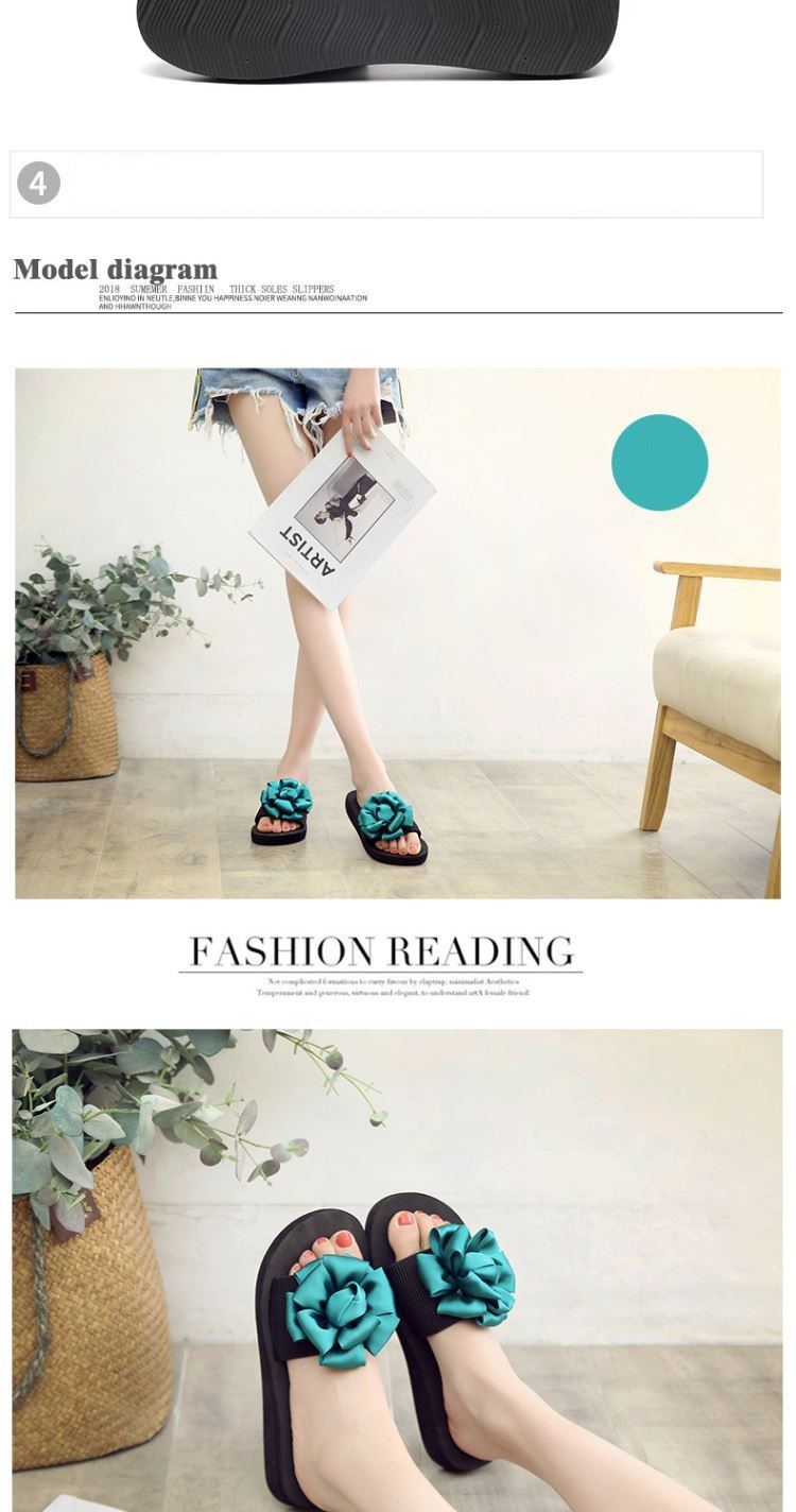0b98b1f82d6d Buy 2018 New Wedge with flower flip flops women s sandals and ...