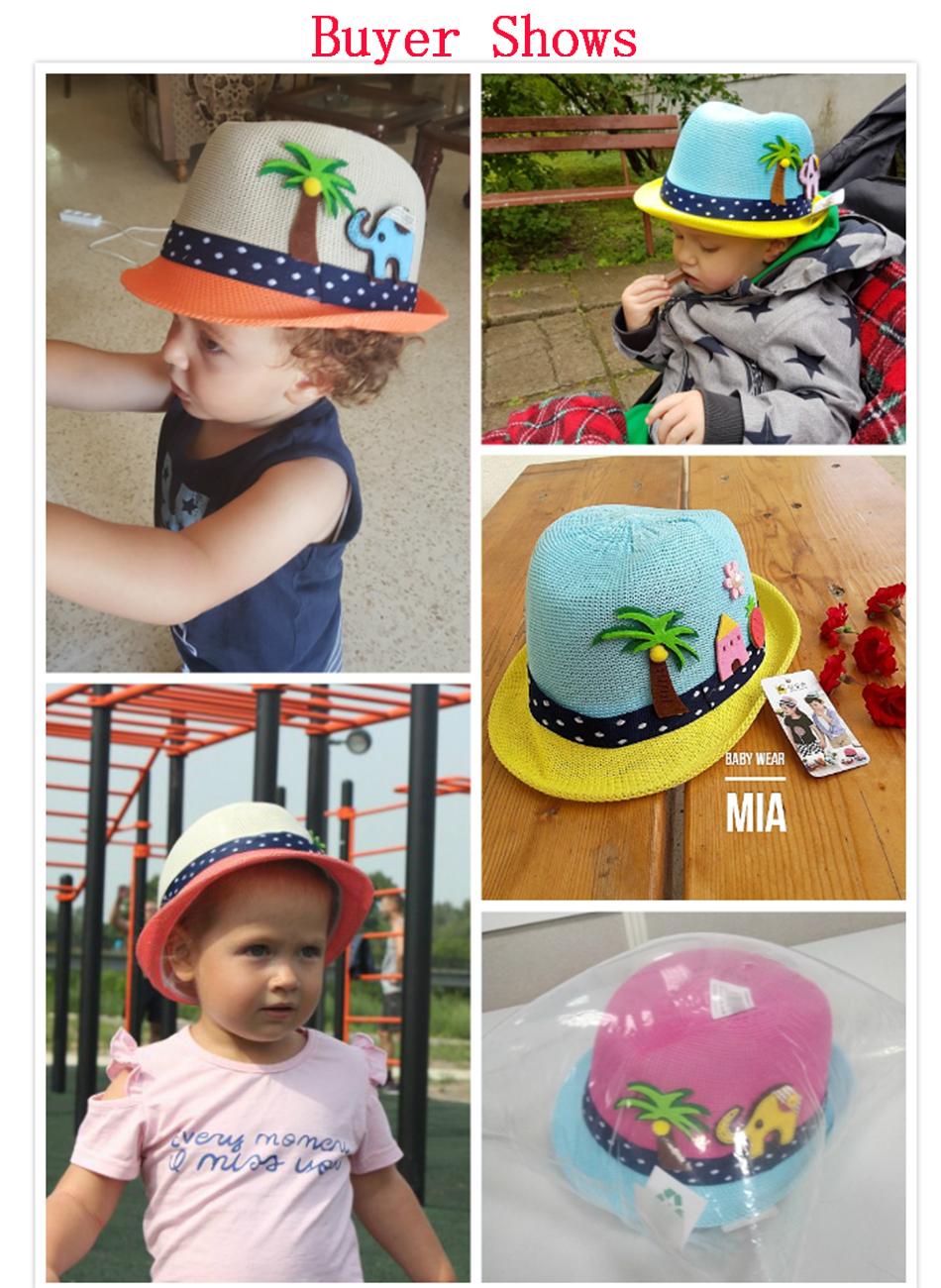 954962f84bb MOLIXINYU Summer Baby Hat Fashion Children Cap For Girls Boys Kids Sun Hat  Baby Boys Beach Cap Straw Kids Jazz Hat