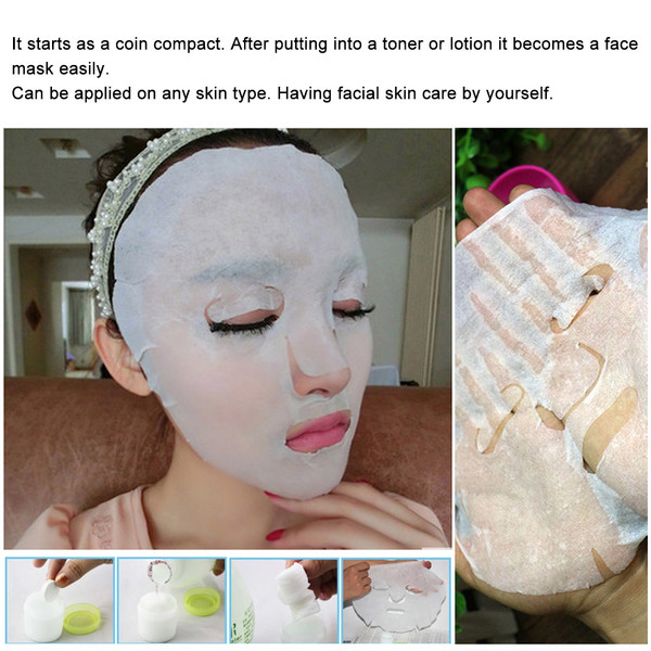 30pcs Compressed Facial Mask Women Diy Disposable Cotton Face Mask Paper Whitening Moisturizing Natural Wrap Mask Skin Care Face