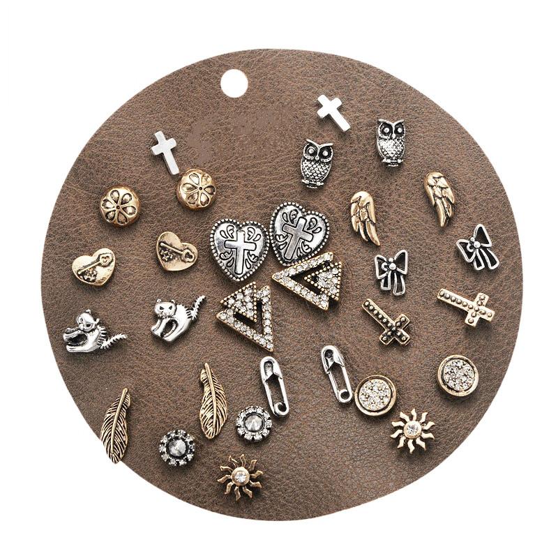 d9bb71499d759 Buy DANZE 15 Pairs/lot Vintage Punk Women Stud Earrings Set Cross ...