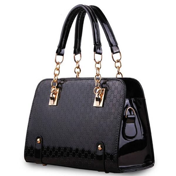 iCeinnight Trunk Women Leather Handbag Long Belt Shoulder Bags Plaid Chain  Bag Single Luxury Designer Handbags bolsas 09f196b673d16