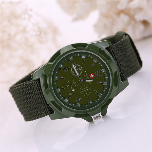 c2d2134265 Outdoor Sport Wristwatches New Famous Brand Army Soldier Watch 2017 Men  Military Canvas Strap Fabric Analog Quartz Wrist Watches