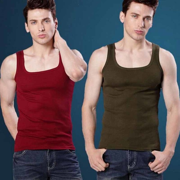 a35465da9fe6c2 Buy Fashion Men s T-Shirts Undershirt Spaghetti Strap Tank Tops Slim ...