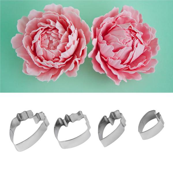 Buy 4pcs Set Fondant Cake Decoration Floral Petal Petals Cutter