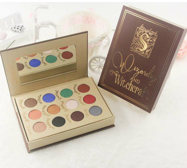 Harry Potter Brands Storybook Cosmetics Eyeshadow Palette Magic Book Makeup Kits 12 Colors Shimmer Eye Shadow Make Up Palettes Set