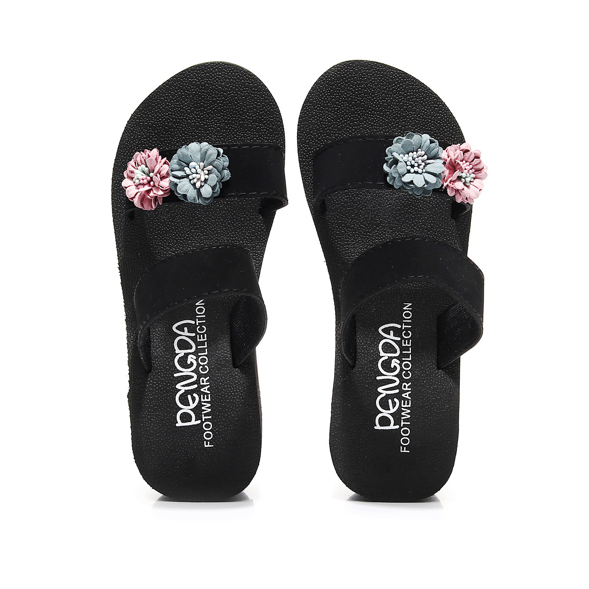 a6a6b5f093a07 Buy 2018 summer new anti-skid flip flops ladies fashion wood grain ...