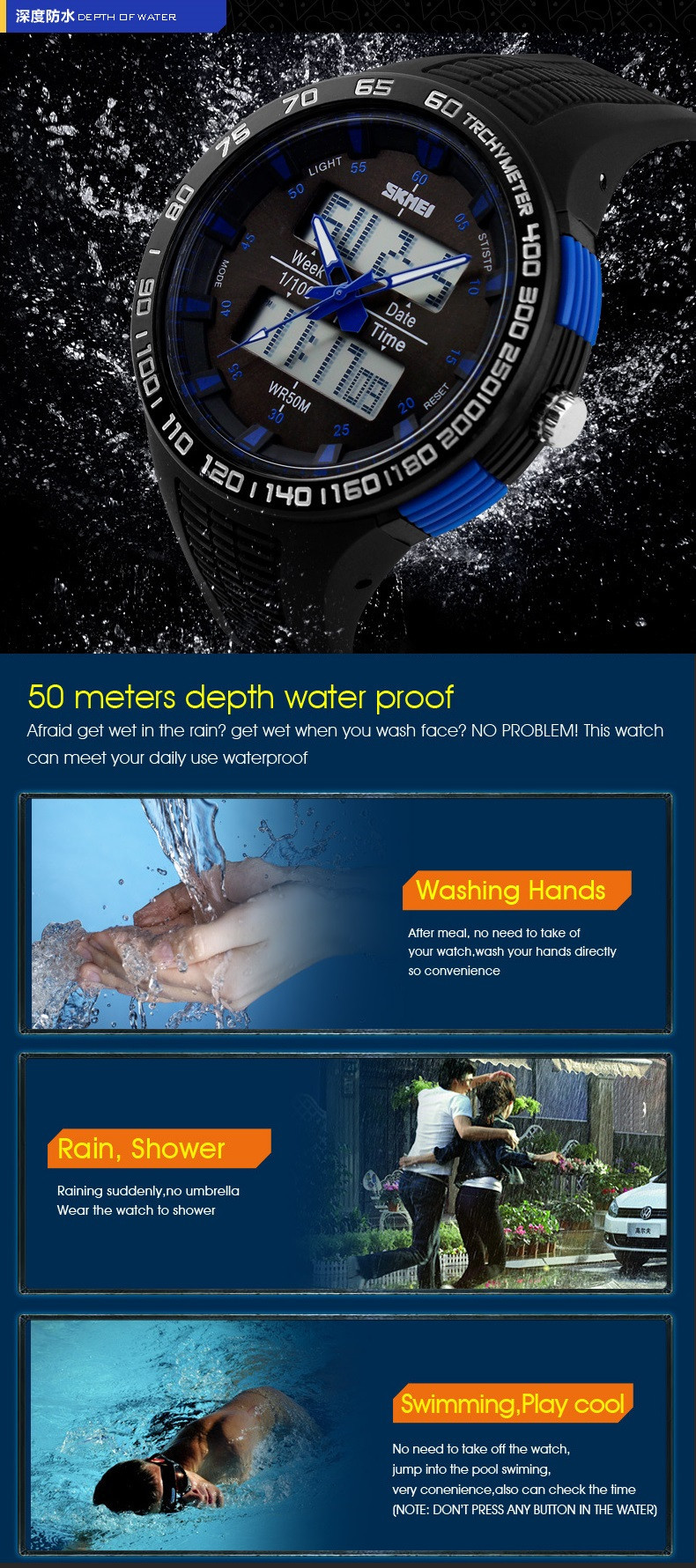 Buy 2017 New Men Sports Watches LED Digital Quartz Watch